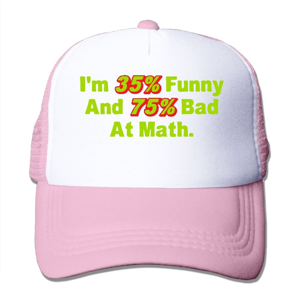 WestWell Im 35 Funny and 75 Bad At Math Mesh Hat Unisex Trucker Caps Sun Mesh Back Cap Hat Comfortable