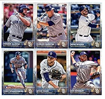 2015 Topps Baseball Cards San Diego Padres Team Set Series 1 13 Cards Including Rene Rivera Carlos Quentin Ian Kennedy Yonder Alonso Jesse