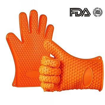 INCHANT Guantes silicona Horno - antideslizantes guantes a prueba ...