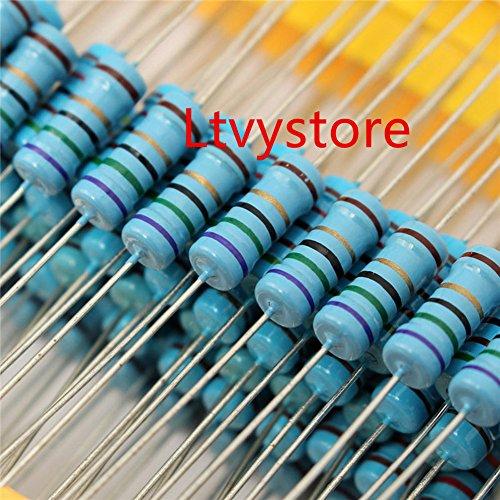 2W Resistors Kit, Ltvystore Resistor Assortment Metal Film 23 Values, 22 Ohm - 1M Ohm Resistor Pack Assorted 2 Watt, 1% Resistance Resistors Set Arduino