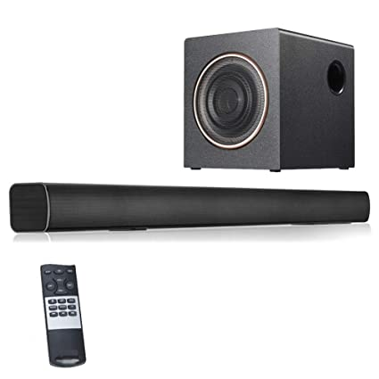Amazon.com: NFY Sound bar with subwoofers(40W+30W), Wireless ... on