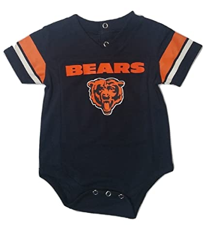 df3e75ea Amazon.com: Outerstuff Chicago Bears Navy Baby/Infant Onesie Jersey ...