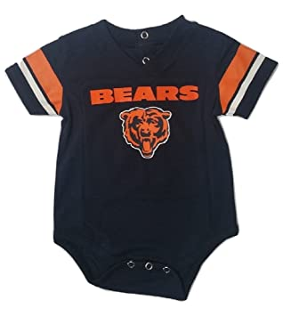eb66c183 Amazon.com: Outerstuff Chicago Bears Navy Baby/Infant Onesie Jersey ...