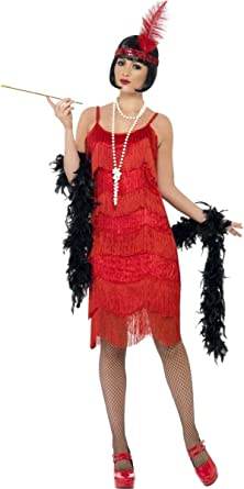 Ladies 1920s White Flapper Charleston Gatsby Fancy Dress Costume Outfit UK 8-18