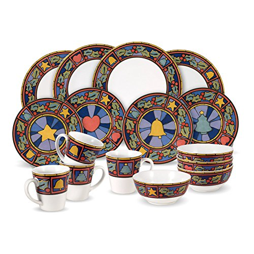 Pfaltzgraff Christmas Rejoice 16-Piece Dinnerware Set, Service for 4