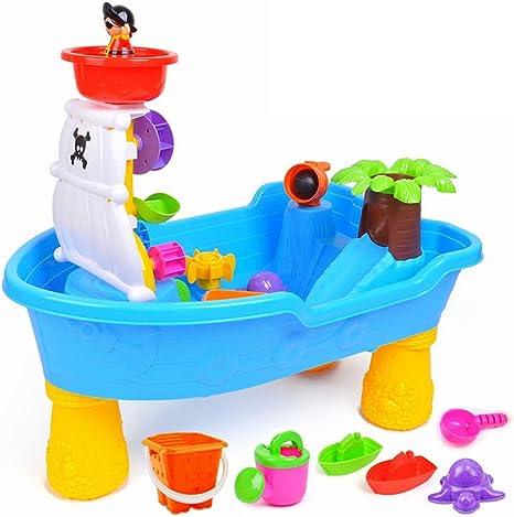 Mesa de Arena y Agua para niños Barco Pirata Creativo Escritorio ...
