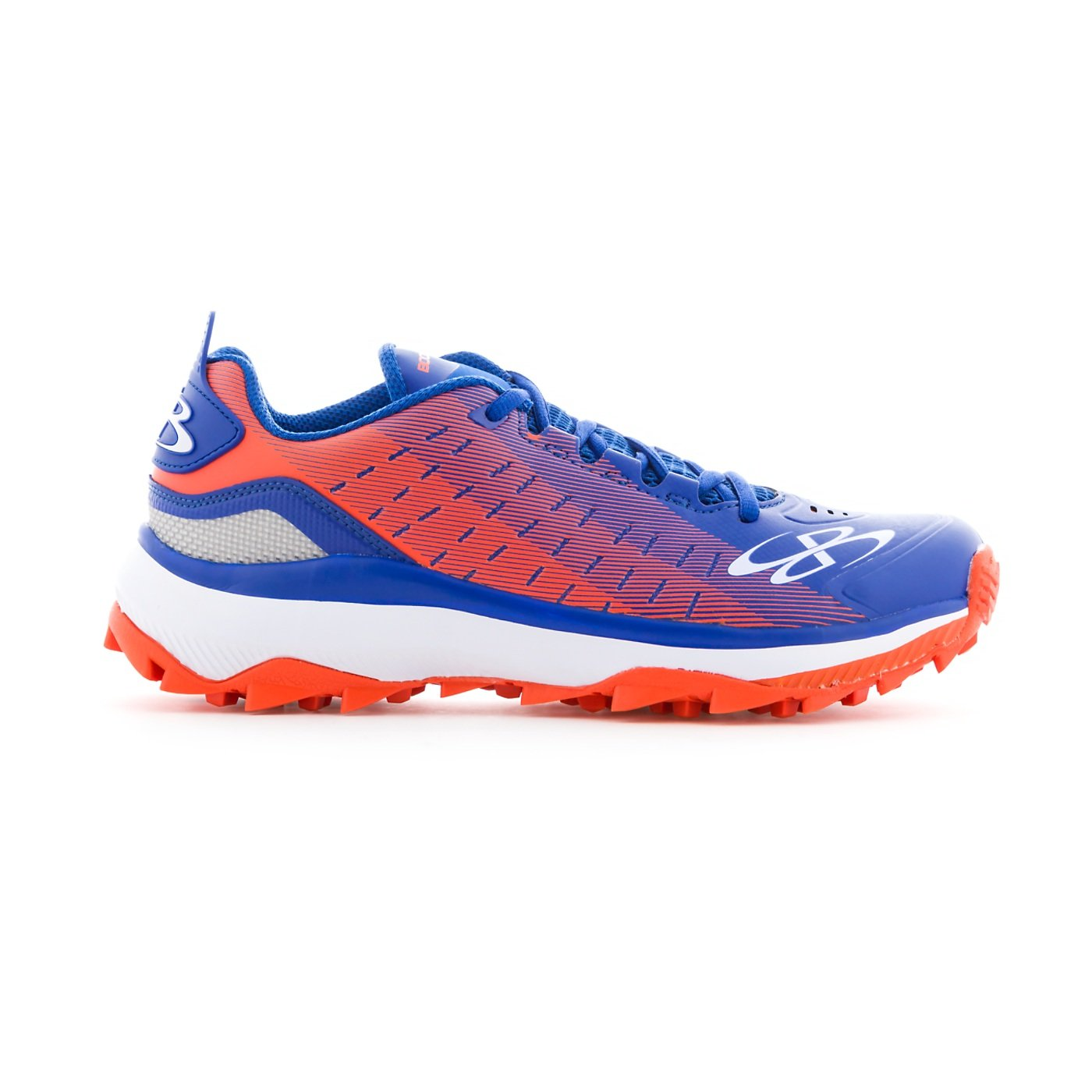 Boombah Men's Catalyst Turf Royal Blue/Orange - Size 10 by Boombah