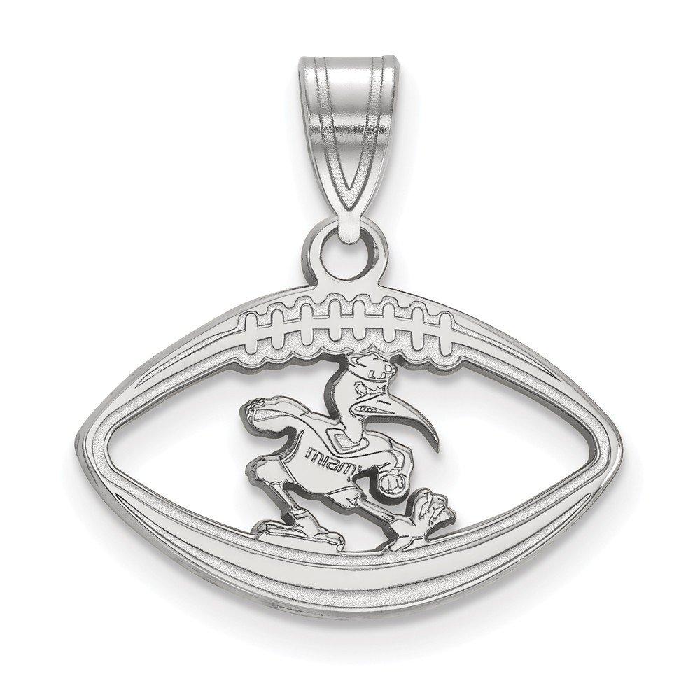 FB Jewels Sterling Silver LogoArt Florida State University Small Pendant