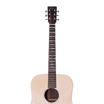 Pegatinas de guitarra para guitarra eléctrica acústica Práctica de principiante principiante: Amazon.es: Instrumentos musicales