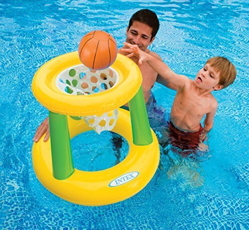 Backyard Basketball Games (Kids Backyard Teens Floating Intex Basketball Game Hoops Pool Floats Family For Adults Outdoor Swimming Pool Floaty Lounger Party Floatie Swim Rings Backyard Beach Lake Float Toys Hoops)