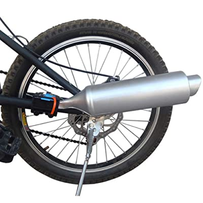 Motorcycle Bicycle Exhaust Sound System, Bicycle Exhaust Sound System,Bike Turbo Exhaust Pipe with Sound Effect Motorcycle Noise Maker Cycling Accessories (Silver): Toys & Games
