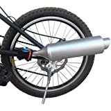 Bicycle Exhaust Sound System, Motorcycle Installation Spoke Turbo Exhaust Pipe with Sound Effect, Bicycle Spoke Sound…