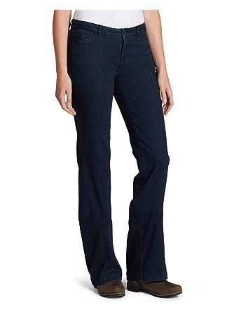 5c76166302f Eddie Bauer Women's Elysian Trouser Jeans - Curvy at Amazon Women's Jeans  store