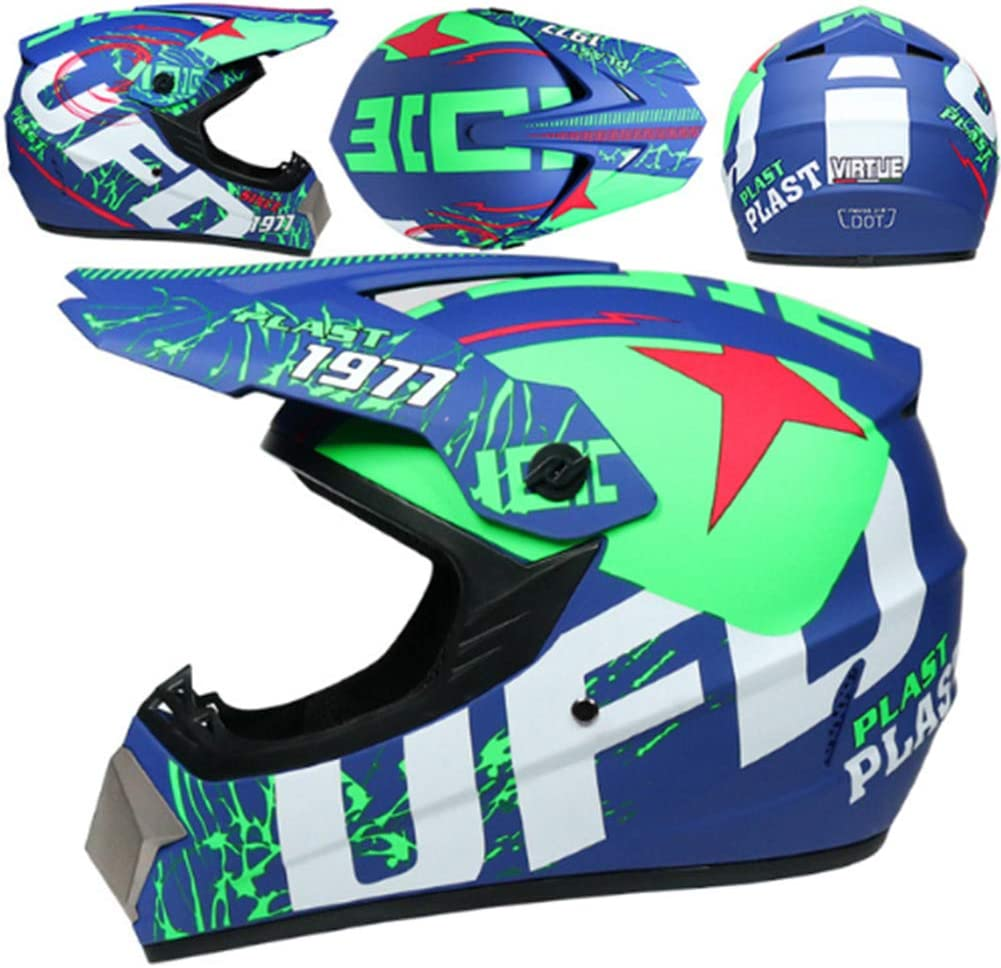 Boys Girls Motorbike Sport Off-Road Enduro Downhill Helmet ATV MTB BMX Quad Dirt Bike Full-Face Crash Helmet ICENCREN Motorcycle Helmet Motocross Helmets