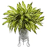 Nearly Natural 6883 2' Aglaonema with Metal Planter