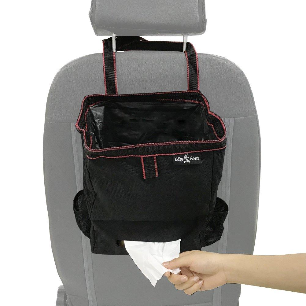 Big Ant Car Trash Bag for Little Leak Proof - Car Garbage Bag with Lid and Storage Pockets