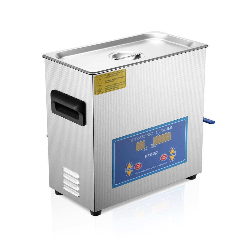 Ultrasonic Cleaner Commercial and Jewelry Ultrasonic Cleaner with Heater and Digital Control (6L) by Homgrace