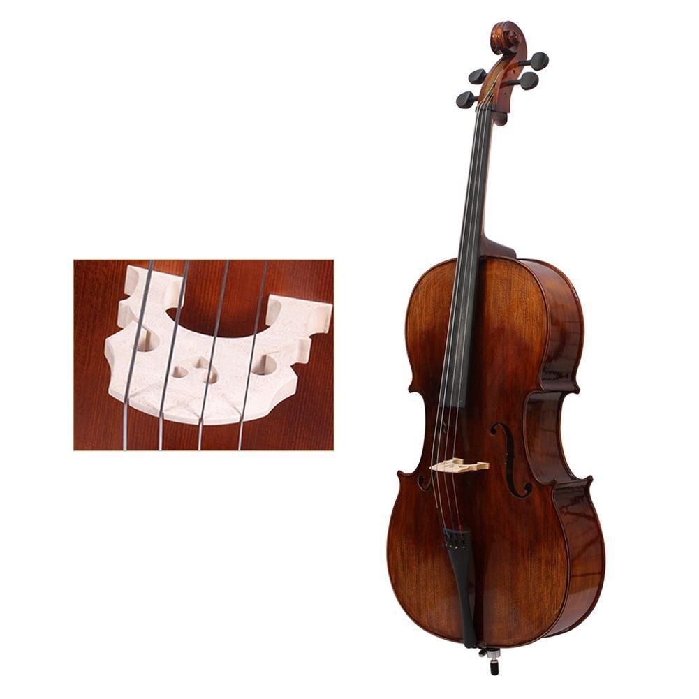 TOOGOO Professional Cello Bridge for 1/4 Size Cello Exquisite Maple Material