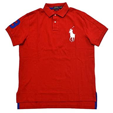 Polo Ralph Lauren Men\u0027s Custom Fit Big Pony Polo Shirt (XL, RL 2000 Red