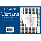 Tartans Wall Map of Scotland (Collins Pictorial Maps)