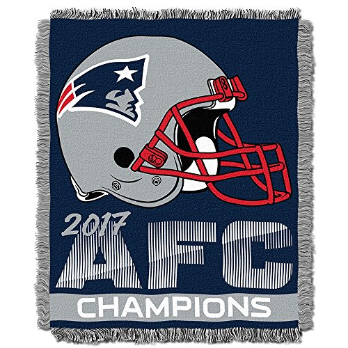 England Tapestry Patriots New (The Northwest Company New England Patriots NFL 2017 AFC Champions Woven Tapestry Throw (48x60))