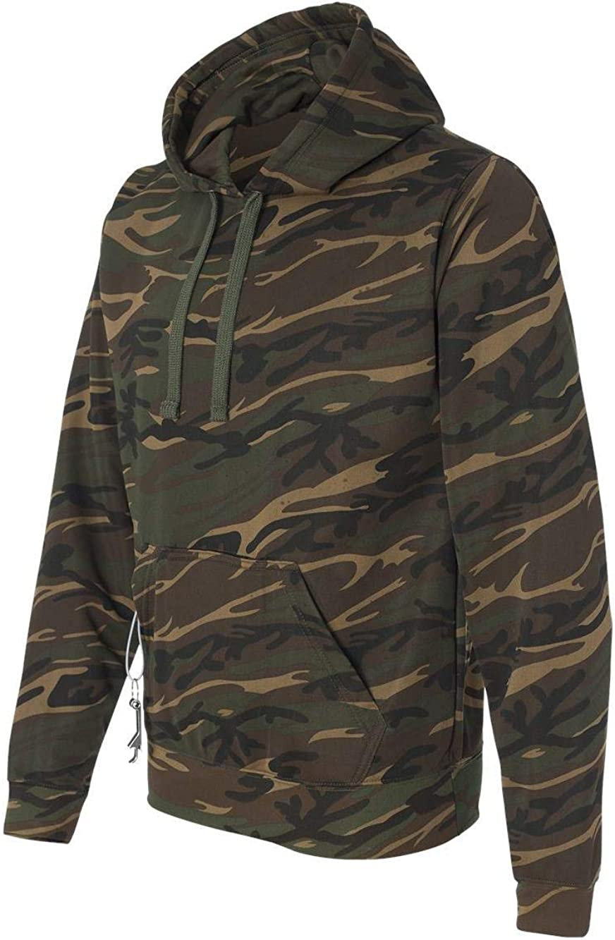 J. America Mens Tailgate Poly Fleece Hooded Pullover Sweatshirt - 8615