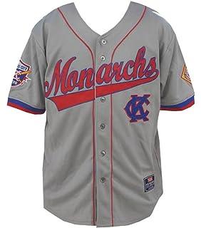 Big Boy Headgear NLBM Mens Kansas City Monarchs Baseball Jersey Gray 222bcaa8cc