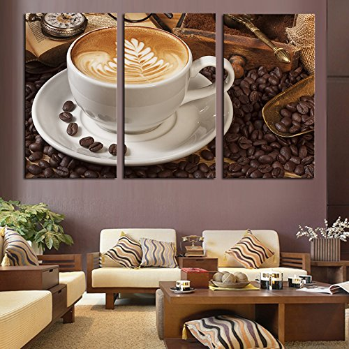 Coffee Wall Art Picture Modern Painting Canvas Home Decoration