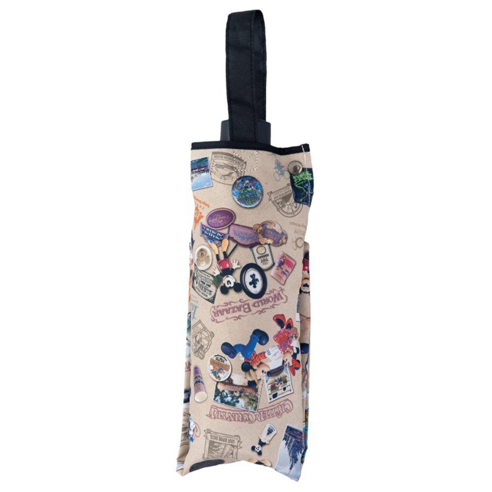 ディズニー リゾート 35周年 Happiest Celebration ! ヒストリー柄 折りたたみ傘 ミッキー 他 折り畳み傘 折畳み傘 傘 雨具 ( リゾート 限定 ) B07B7DVCHX