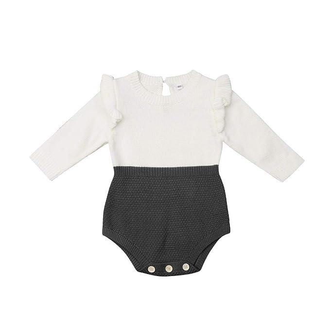 Amazon.com: Body de punto para bebés y niñas de una apertura ...
