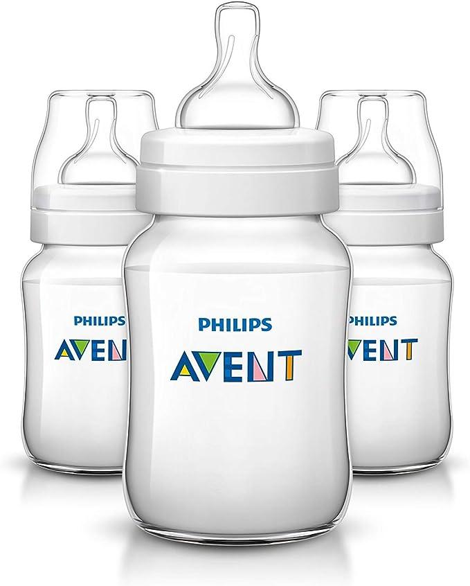 Philips Avent - Biberón de plástico, color blanco (SCF563/37) (Paquete de 3): Amazon.es: Bebé