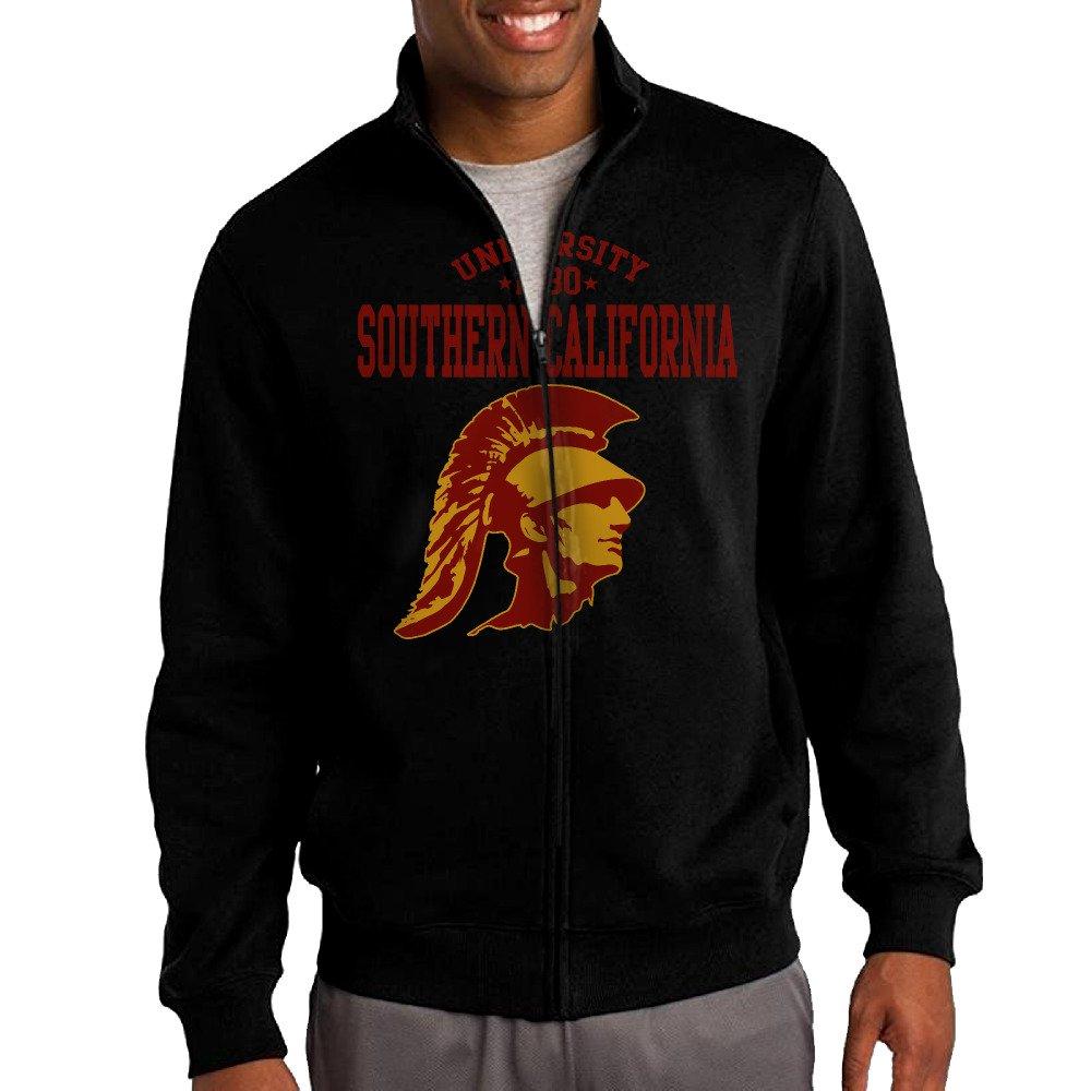 the latest 72bea 09574 Men USC Trojans University Of Southern California Zip-up ...