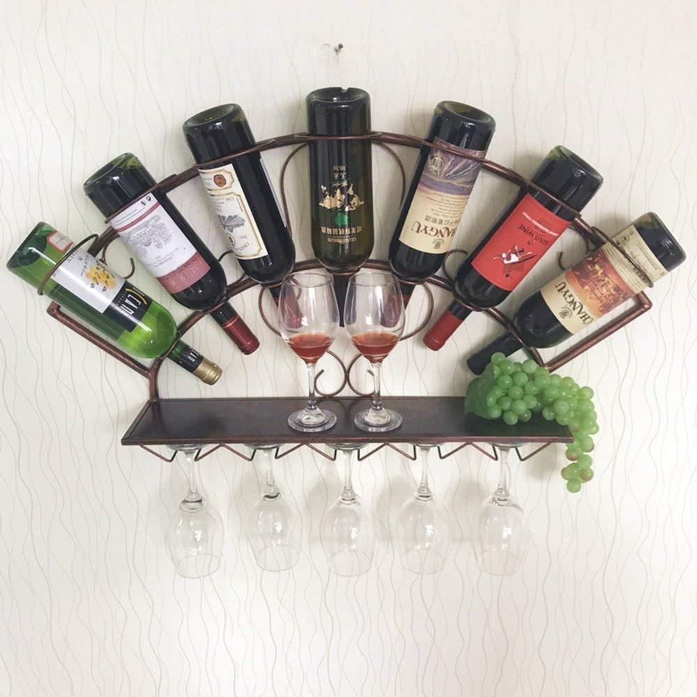 XixuanStore リビングルームのワインラック、レストランのワインラック、装飾的なワインラック、ワインラック壁掛けボトル収納ラック、青銅-83 cm * 13 cm * 40 cm任意のスペースを補完する (Color : Bronze) B07P9WN9BT Bronze