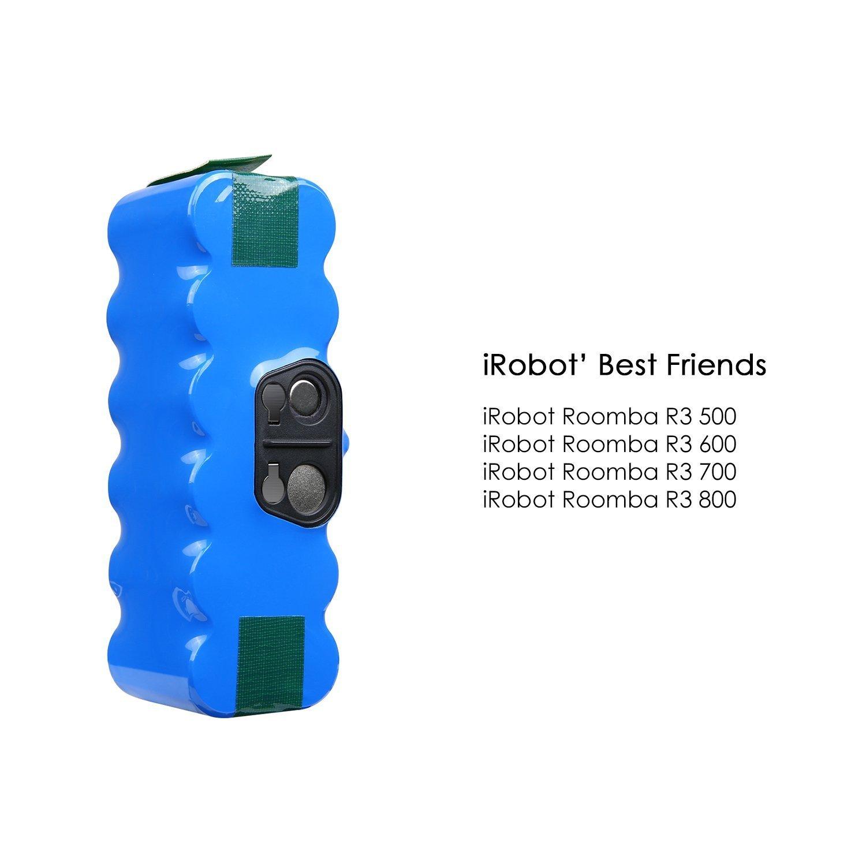 Odec Batería de Repuesto Ni-MH 14,4v 4800mAh para iRobot Roomba 500 Series Roomba Vacuum Cleaner 510 530 531 532 533 535 536 540 545 550 552 560 562 563 570 ...