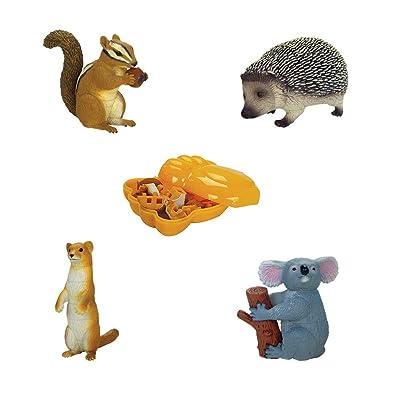 ARTKAL Assorted 4pcs/Set of Ukenn 3D Lovely Animals Figure Playsets Puzzles Blocks Toys DIY Hedgehog Chipmunk Weasel Koala Models Kids 3566: Toys & Games