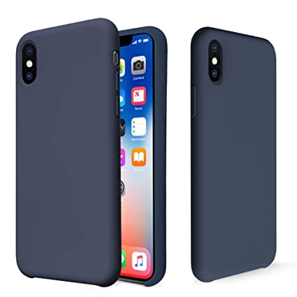 premium selection 570ff 83f86 iPhone X Case, Fuleadture Liquid Silicone Gel Rubber Shockproof Mobile  Phone Case Slim Soft Protective Cover with Microfiber Cloth Lining Cushion  for ...