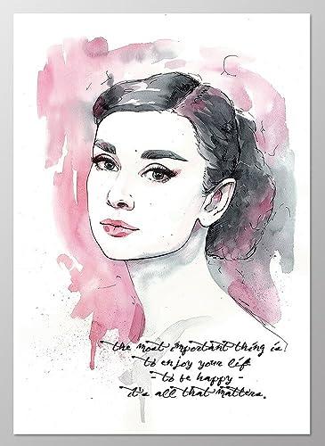 11x14 Audrey Hepburn Poster #A096. Audrey Hepburn Quote. Audrey Hepburn  Wall Art.