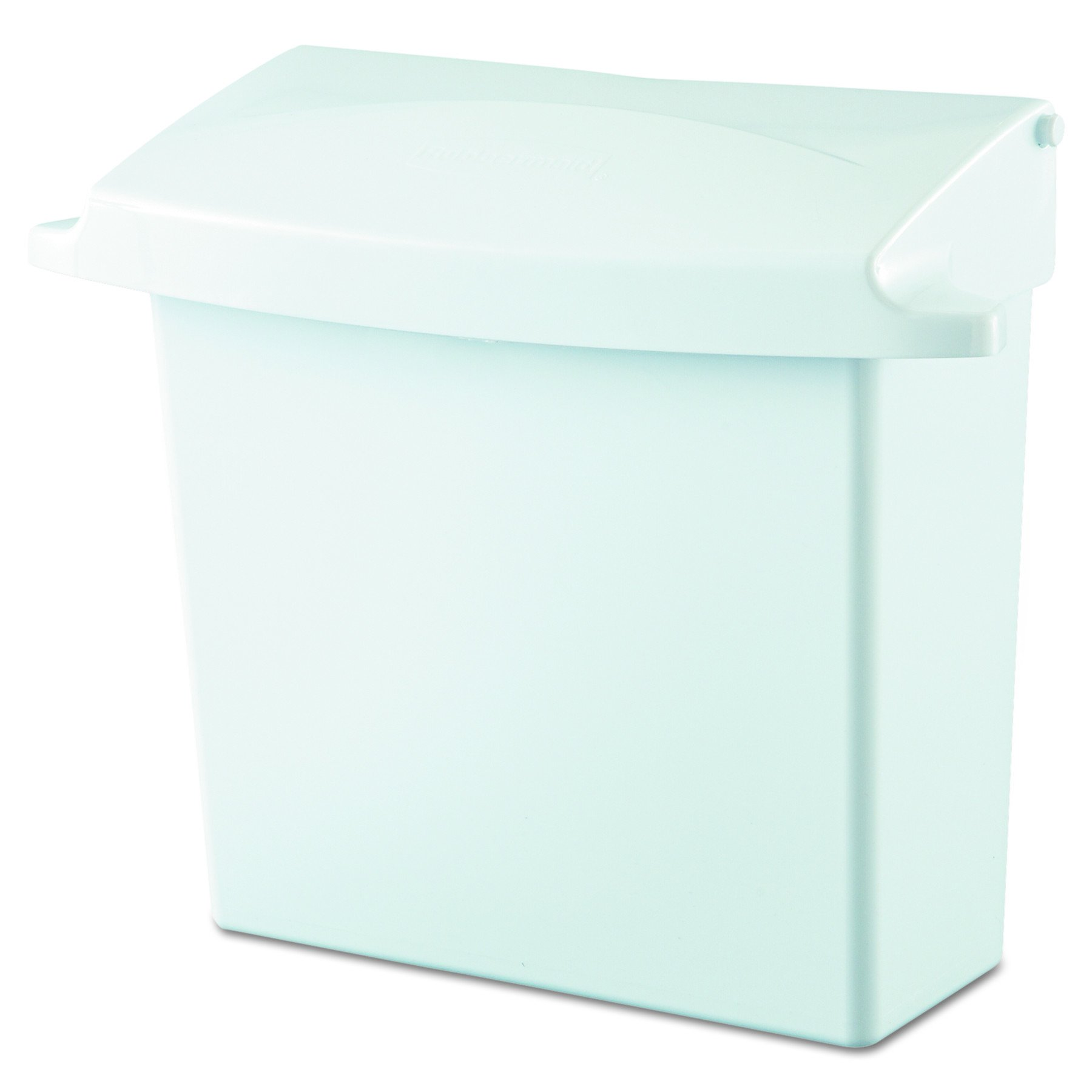 Rubbermaid Commercial 614000 Sanitary Napkin Receptacle with Rigid Liner, Rectangular, Plastic, White by Rubbermaid Commercial Products