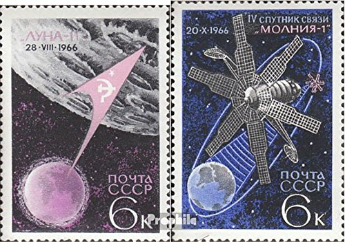 Soviet Union 3311-3312 (Complete.Issue.) 1966 Space (Stamps for Collectors) Space