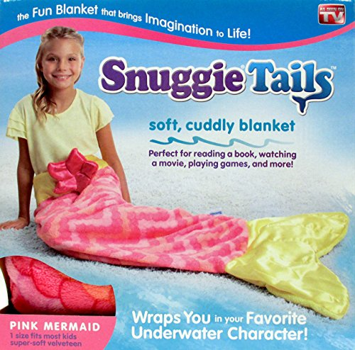 Snuggie Tails for Kids, Pink Mermaid - The Funnest and Comfiest Sleeping Bag Ever - Bring Imaginations to Life - Fun Anywhere - Perfect for Winter