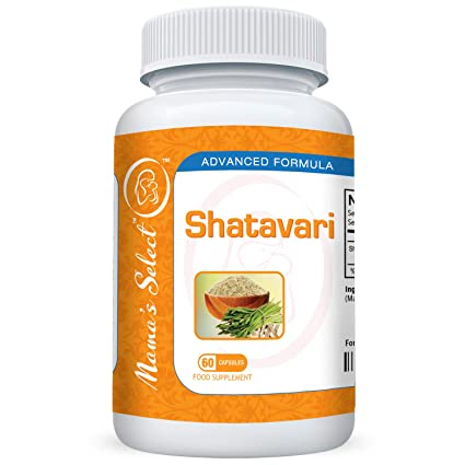 Shatavari de Mamas Select para la producción de leche materna natural, suplemento para la lactancia que ...