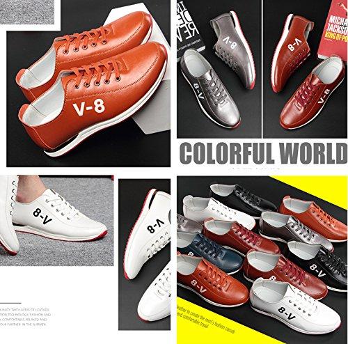Gaorui Mode Heren Casual Schoenen Ademend Sport Lace Up Sneakers Rijden Board Flats Wit