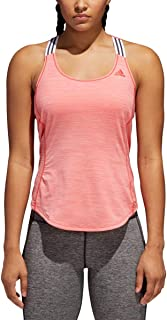 adidas Women's Training Performer Tank Top, Real Coral, X-Large