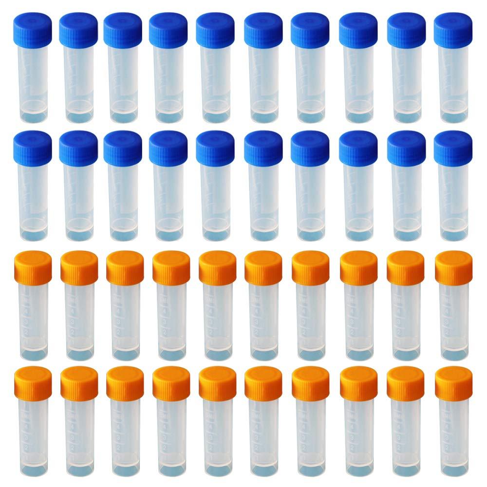 Vockvic 12 pi/èces Tube /à Essai en Plastique Transparent Tube /à Essai avec Bouchon Li/ège laboratoire Tubes /à essai Tubes /à essai pour Laboratoire Bonbons Epice Plante Echantillon Perles Potions