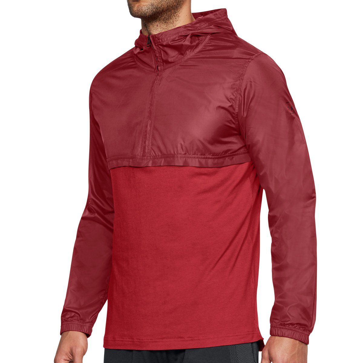 Under Armour Men's Sportstyle Wind Anorak, Red (600)/Black, Small