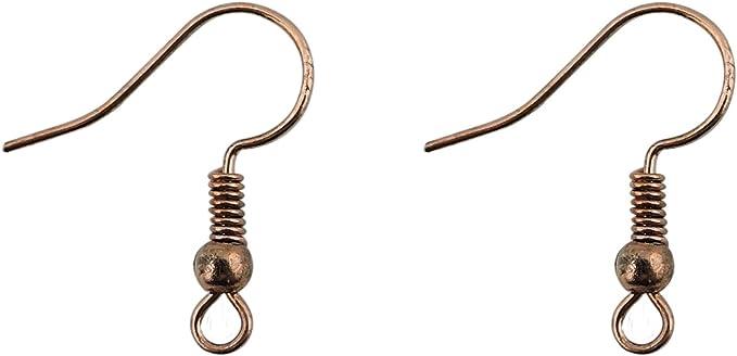 100 Copper Ear Wires Antiqued Copper Findings Earring Hooks Bulk Findings
