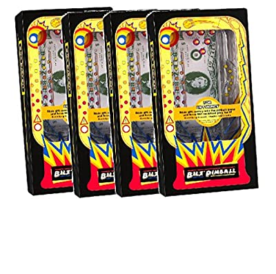(Set of 4) Retro Pinball Money Machine Puzzles - Fun Challenging Gift Holder