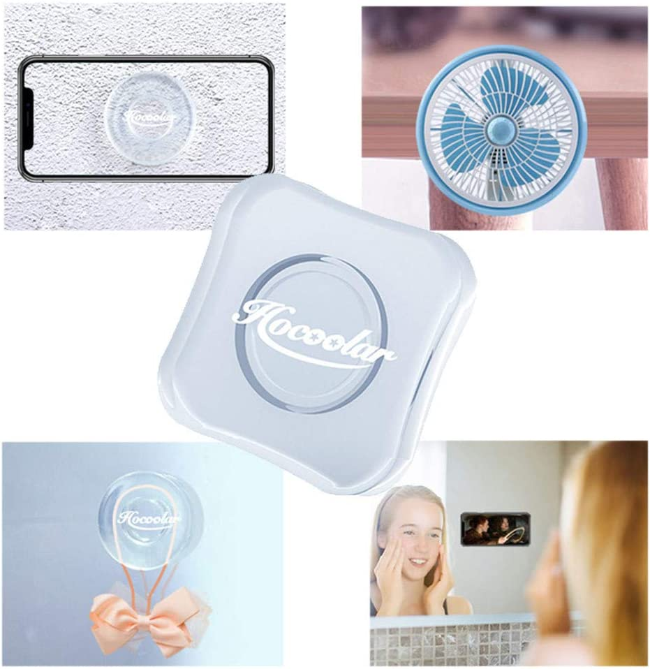 Universal Sticky Car Phone Holder Multi-Functional Reusable Washable Double Sided Non Slip Silicone Gel Pads Stick on Car Wall Mat Paste Gripper Round Nano Gel Pad Traceless Magic Stickers
