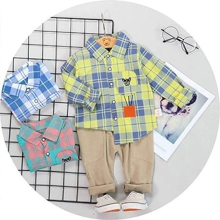 KIHUI Otoño Niños Bebé Niños Niñas Ropa Conjuntos De Cuadros ...
