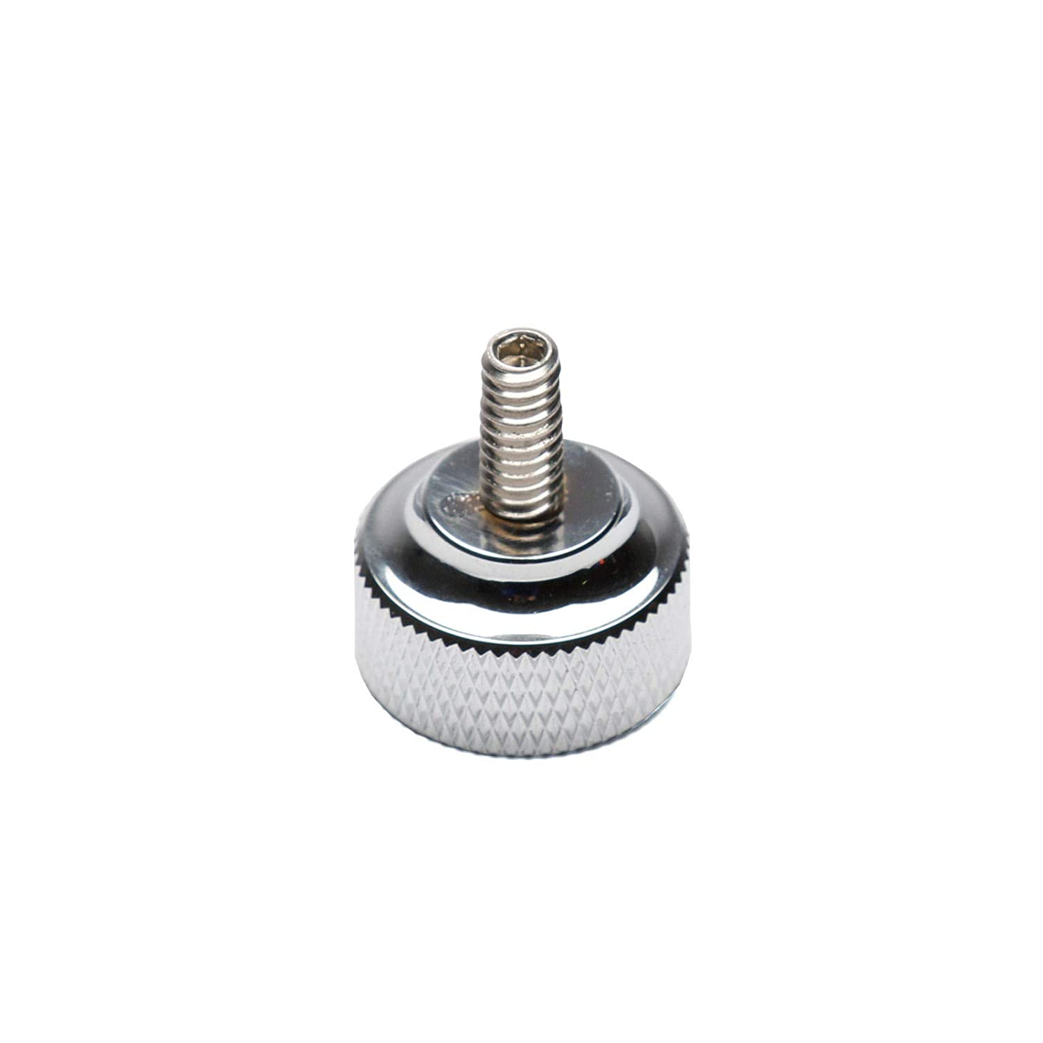Chrome 1//4-20 Thread Knurled Seat Thumbscrew Bolt for Harley-Davidson Models